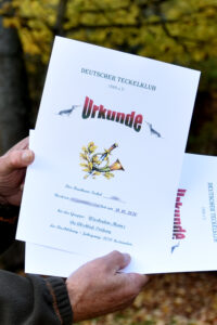 Die von Harald selbst gestaltete Urkunde